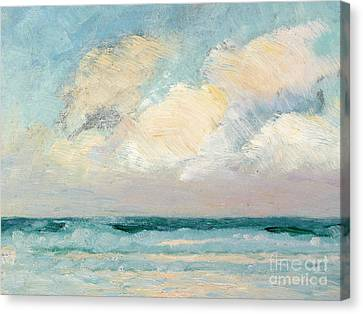 Sea Study - Morning Canvas Print by AS Stokes