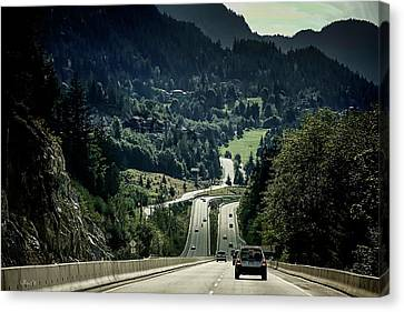 Sea To Sky Highway Canvas Print