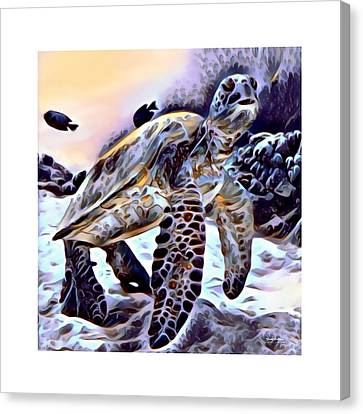 Sea Turtle 4 Print  Canvas Print by Scott Wallace