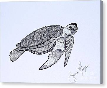 Sea Turtle Canvas Print by Joanna Thompson