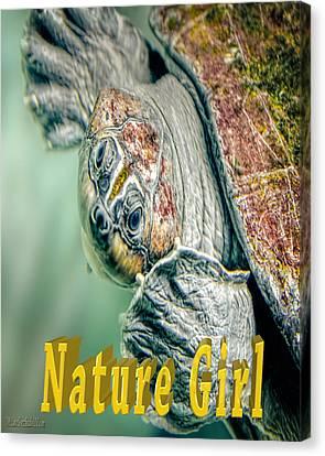 Sea Turtle Nature Girl Canvas Print