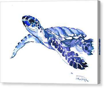 Animal Lover Canvas Print - Sea Turtle by Suren Nersisyan