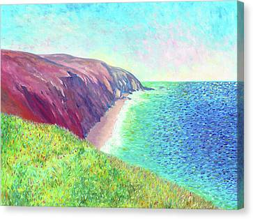 Canvas Print featuring the painting Sea View by Elizabeth Lock