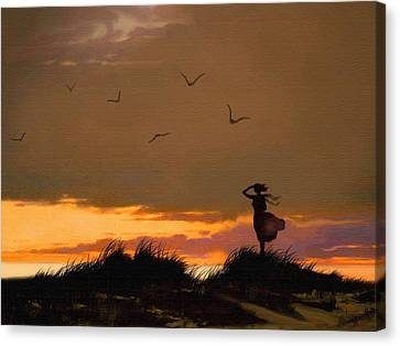 Sea View Canvas Print by Robert Foster