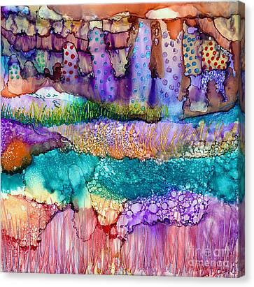 Sea Wall Canvas Print by Alene Sirott-Cope