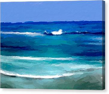 Sea Waves Canvas Print by Anthony Fishburne