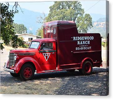 Ridgewood Canvas Print - Seabiscuit's Truck by Josephine Buschman