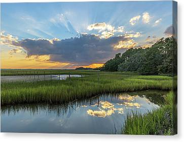 Seabrook Island Sunrays Canvas Print
