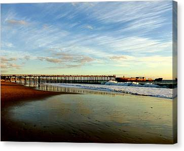 Seacliff Sky Stretch Canvas Print by Amelia Racca