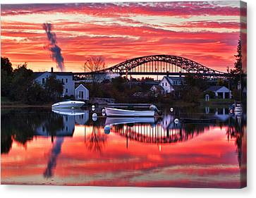 Seacoast Sundown Canvas Print