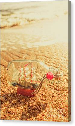 Toy Boat Canvas Print - Seafaring Scenes by Jorgo Photography - Wall Art Gallery