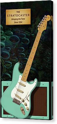 Seafoam Stratocaster Anniversary Canvas Print