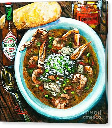 Canvas Print featuring the painting Seafood Gumbo by Dianne Parks