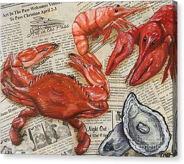 Seafood Special Edition Canvas Print by JoAnn Wheeler