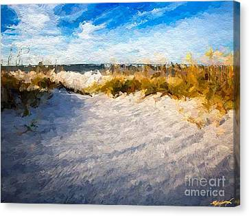 Seagrass Breeze Canvas Print by Anthony Fishburne
