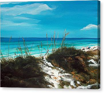 Seagrove Beach Florida Canvas Print by Racquel Morgan