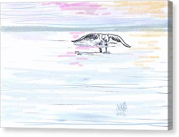 Seagull Canvas Print by Angela A Stanton
