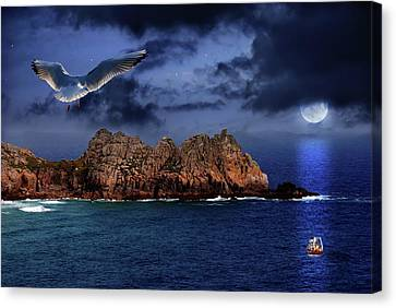 Seagull Flight Canvas Print by Jaroslaw Grudzinski