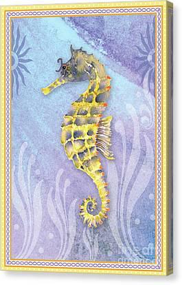 Seahorse Blue Canvas Print by Amy Kirkpatrick