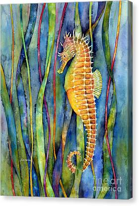 Seahorse Canvas Print by Hailey E Herrera