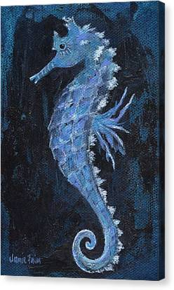 Canvas Print featuring the painting Seahorse by Jamie Frier
