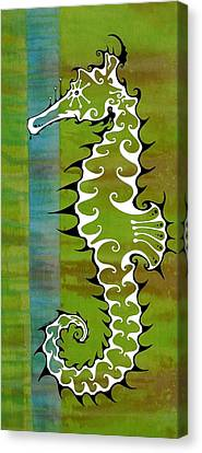 Fish Canvas Print - Seahorse by John Benko