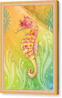Seahorse Pink Canvas Print by Amy Kirkpatrick