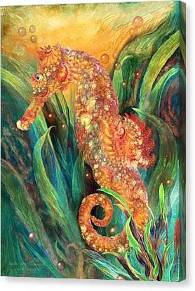 Seahorse - Spirit Of Contentment Canvas Print by Carol Cavalaris