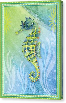 Seahorse Blue Green Canvas Print