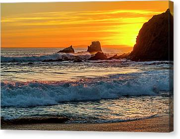 Seal Rock Sunset Canvas Print by Kelley King