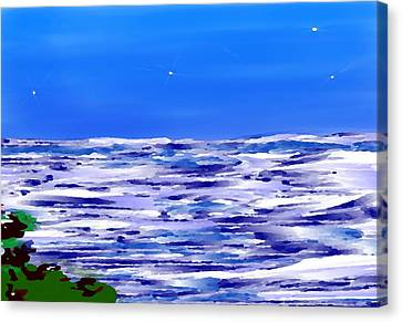 Sea.moon Light Canvas Print by Dr Loifer Vladimir