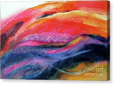 Canvas Print featuring the painting Seams Of Color by Kathy Braud