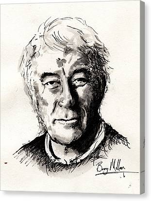 Seamus Heaney Canvas Print by Barry Mullan