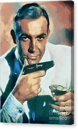 Sean Connery Canvas Print by Sergey Lukashin