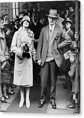 Sean O'casey Wedding Canvas Print by Underwood Archives