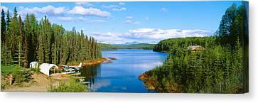Seaplane On Talkeetna Lake, Alaska Canvas Print by Panoramic Images