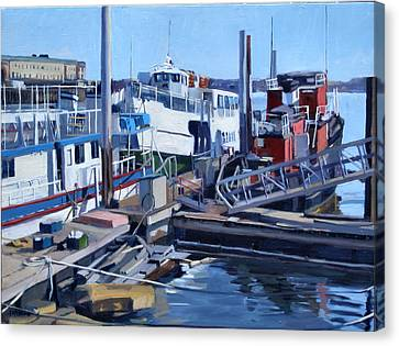 Seaport Ave Canvas Print by Deb Putnam