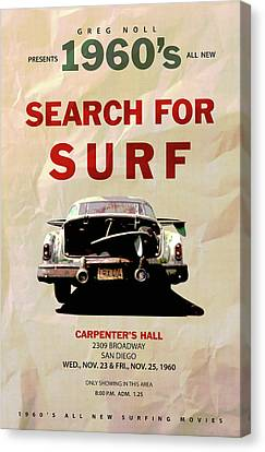 1960 Movies Canvas Print - Search For Surf by Ron Regalado