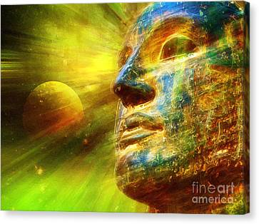 Searching For Buddha Canvas Print by Khalil Houri