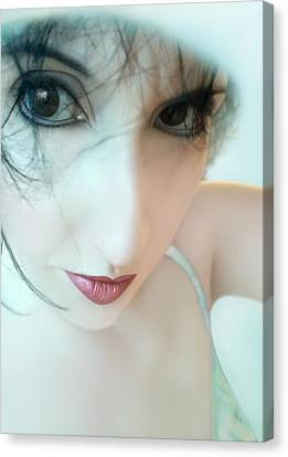 Searching For Innocence Lost - Self Portrait Canvas Print by Jaeda DeWalt
