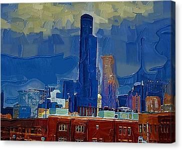 Sears Tower Canvas Print by Brad Hutchings