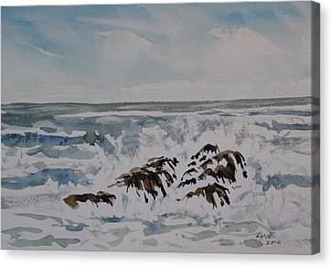 Seascape Ester Lee Canvas Print by Lynne Haines