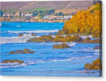 Seascape Landscape Cayucos California Canvas Print by Floyd Snyder