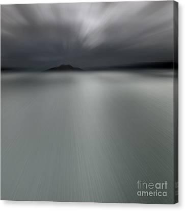 Canvas Print featuring the photograph Seascape Mono by Craig B