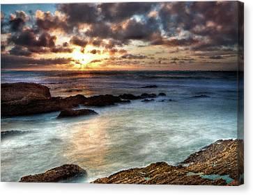 Seascape Paintings For Sale - Ocean Breath Canvas Print by Frances Leigh