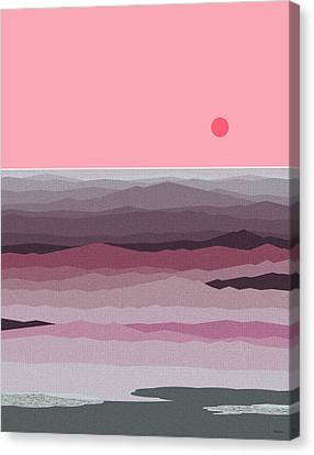Seascape Pinks Canvas Print by Val Arie