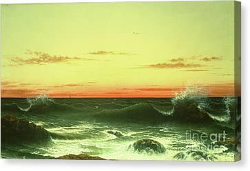 Seascape Sunset 1861 Canvas Print