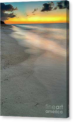 Seascape Sunset Boracay Canvas Print by Adrian Evans