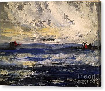 Seascape Canvas Print by Trilby Cole