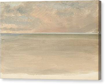 Seascape With Icecap In The Distance Canvas Print